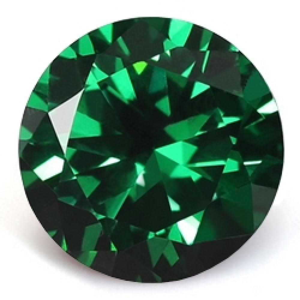 CZ Kubický zirkon - Dark Green, pr. 2.00 mm