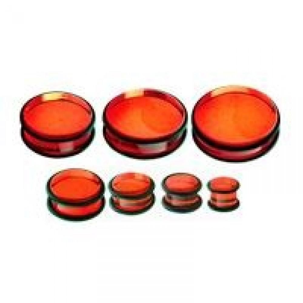 Plug do ucha - červený akrylát