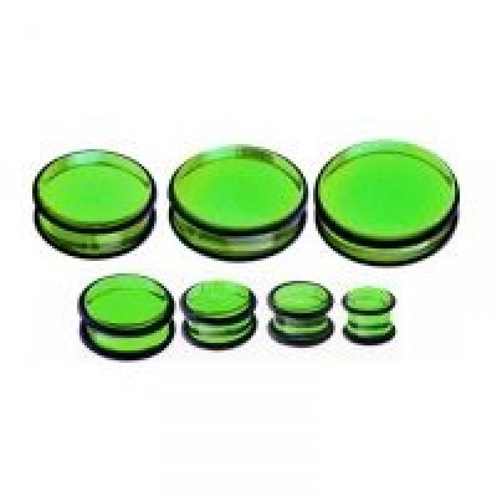 Plug do ucha - zelený akrylát