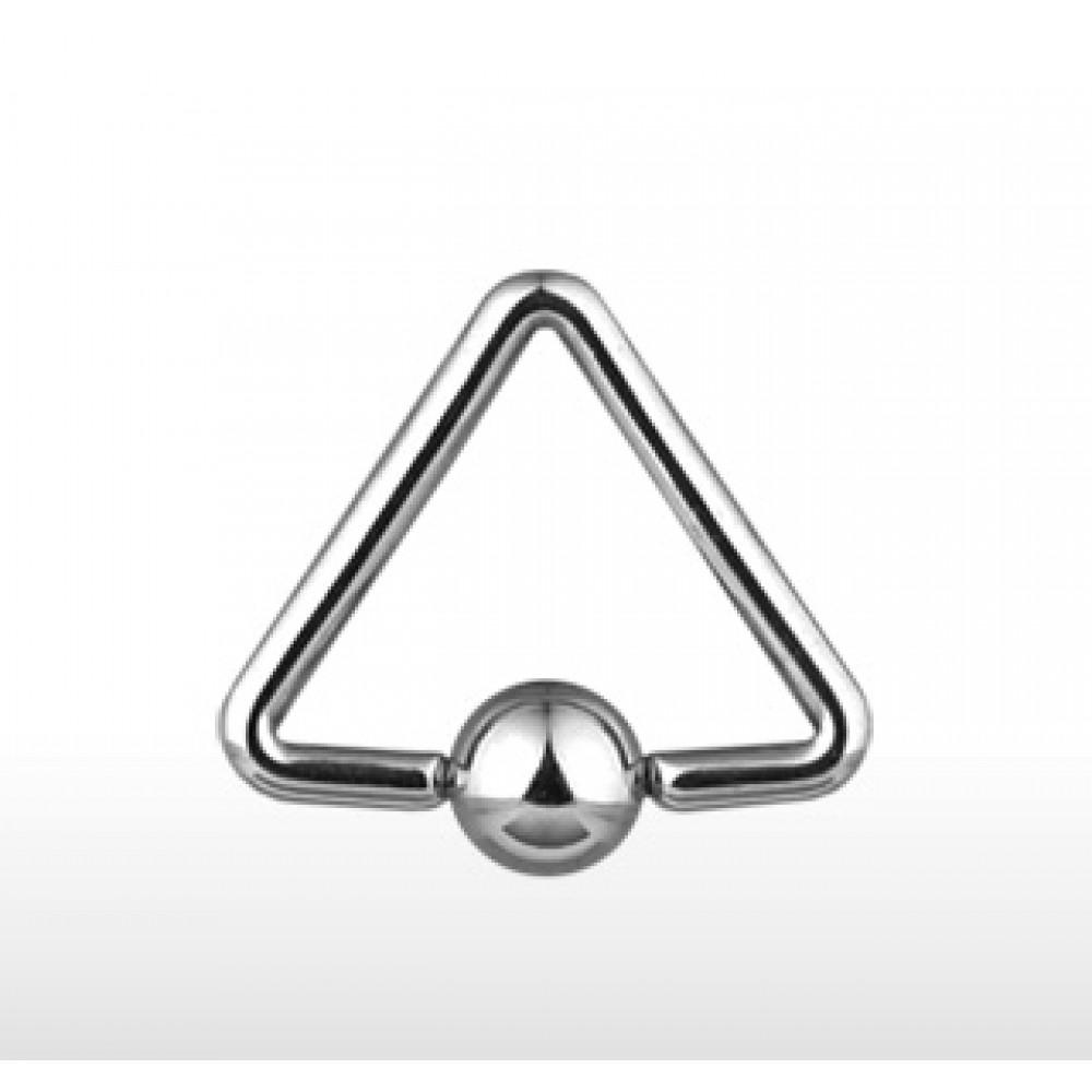 Piercing - trojúhelníkový kruh 1,2 x 12 mm