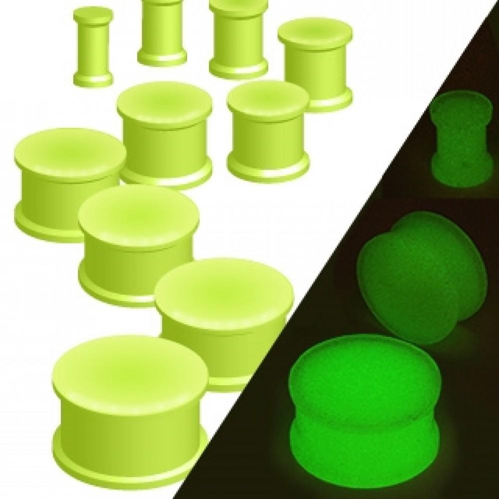 Plug do ucha silikon - svítící