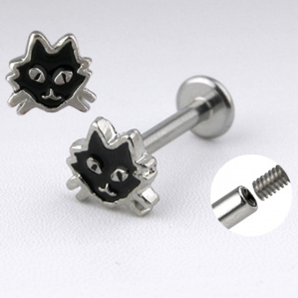 Piercing do brady - labreta kočka