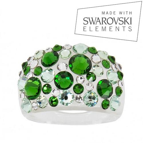 LEVIEN Prsten SWAROVSKI® elements - Green
