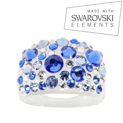 LEVIEN Prsten SWAROVSKI® elements - Sapphire
