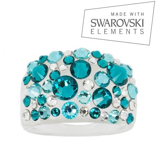 LEVIEN Prsten SWAROVSKI® elements - Blue Zircon