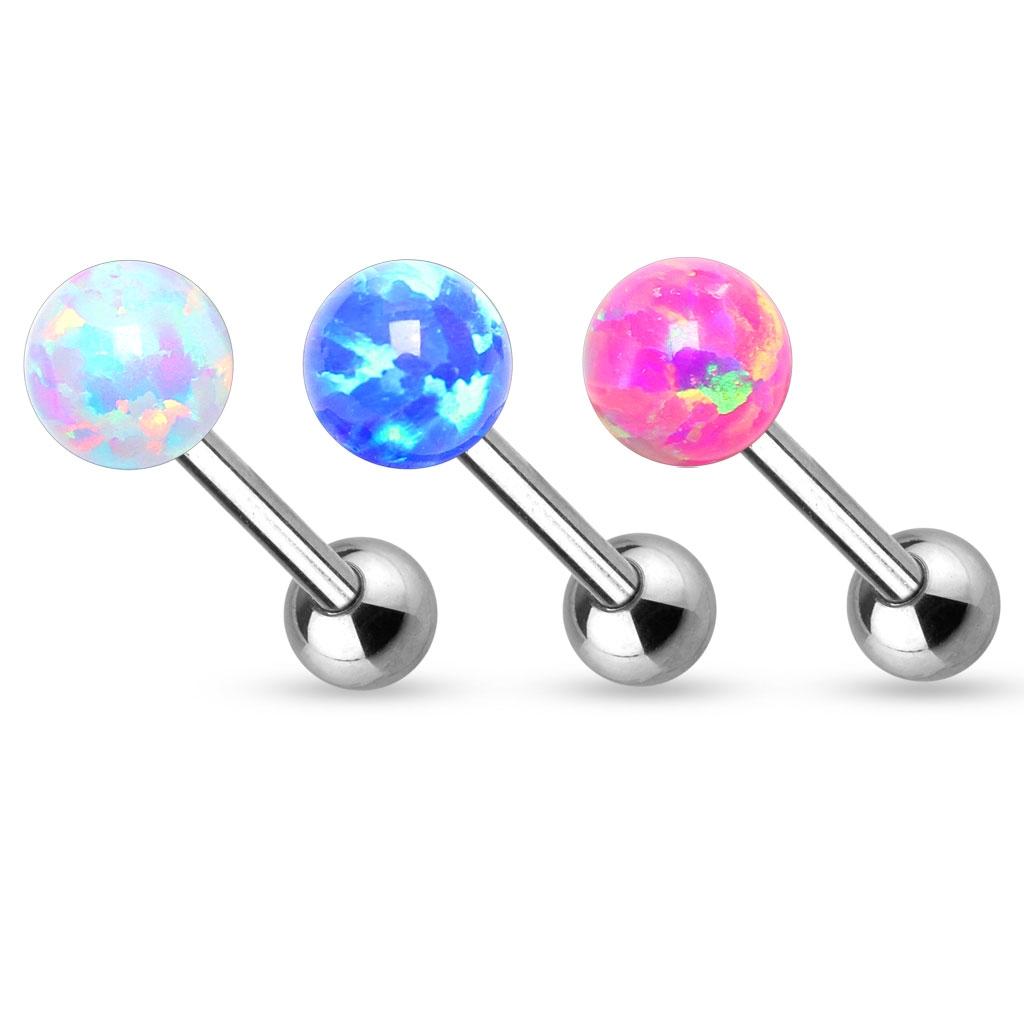 Piercing do jazyka opál