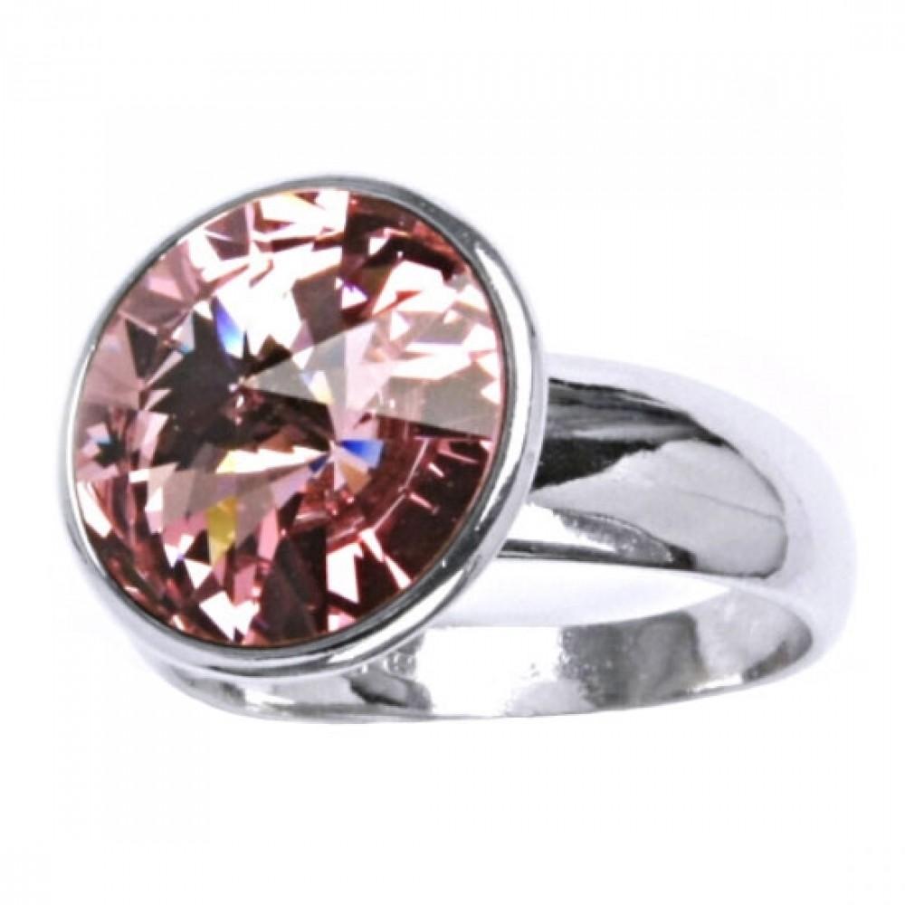 Stříbrný prsten SWAROVSKI® el., Rose