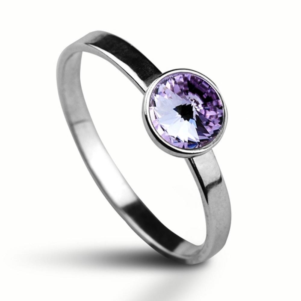 Stříbrný prsten SWAROVSKI® el., Violet