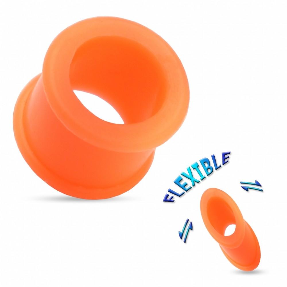 Tunel do ucha ze silikonu oranžový, průměr 4 mm