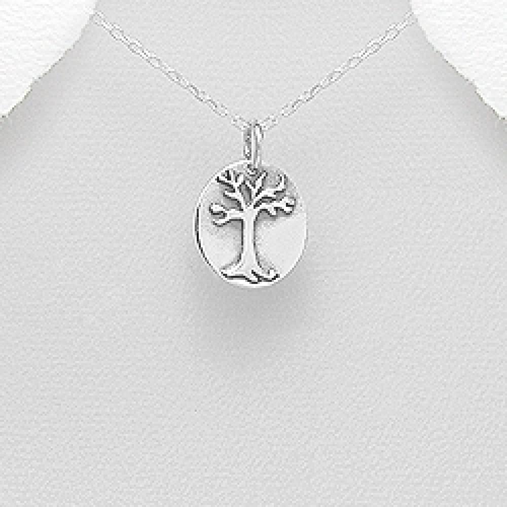 Stříbrný přívěšek destička strom života