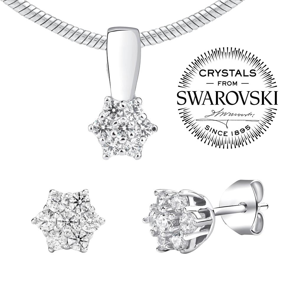 SILVEGO stříbrný set šperků se Swarovski(R) Crystals 9100af51c53