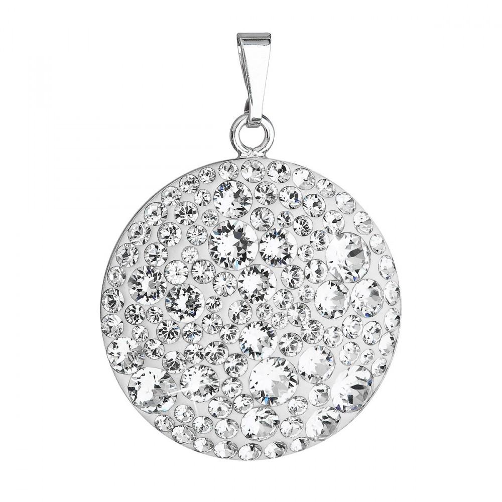 7a046dfd8 Stříbrný přívěsek s krystaly Swarovski AB efekt srdce 34002.2 ...